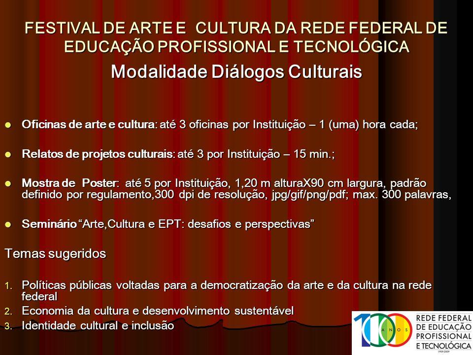 Modalidade Diálogos Culturais