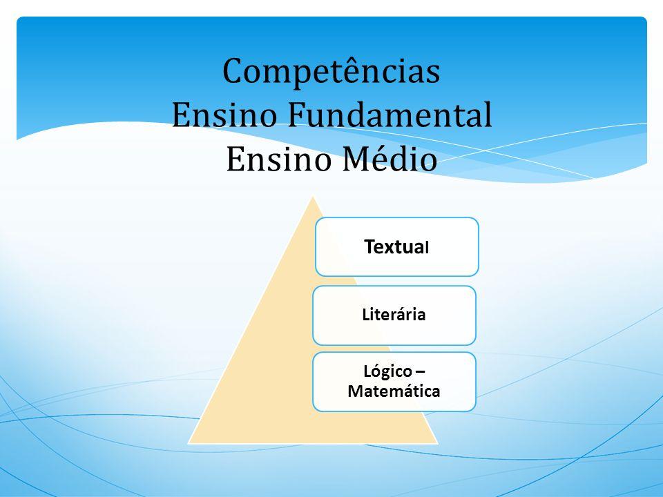 Competências Ensino Fundamental Ensino Médio