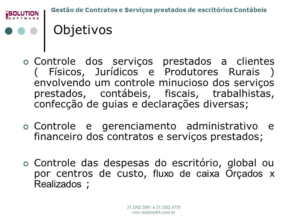 Solution Software 31. 3392.5991 Objetivos.