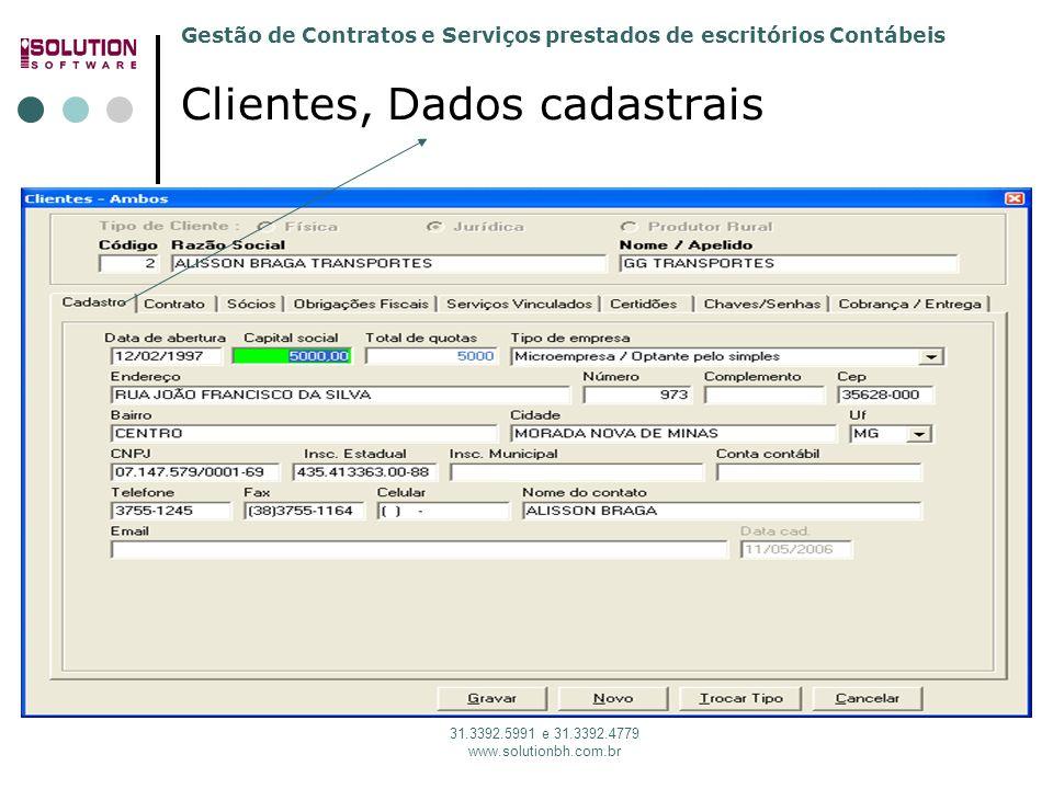 Clientes, Dados cadastrais