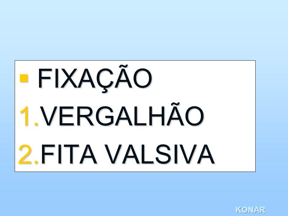 FIXAÇÃO VERGALHÃO FITA VALSIVA KONAR