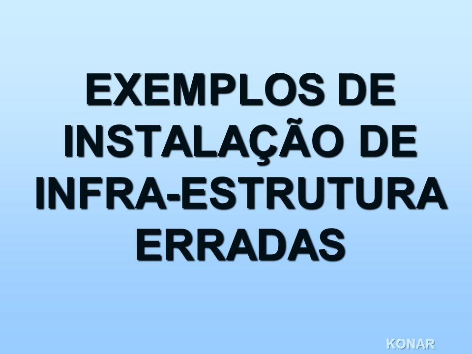 EXEMPLOS DE INSTALAÇÃO DE INFRA-ESTRUTURA ERRADAS