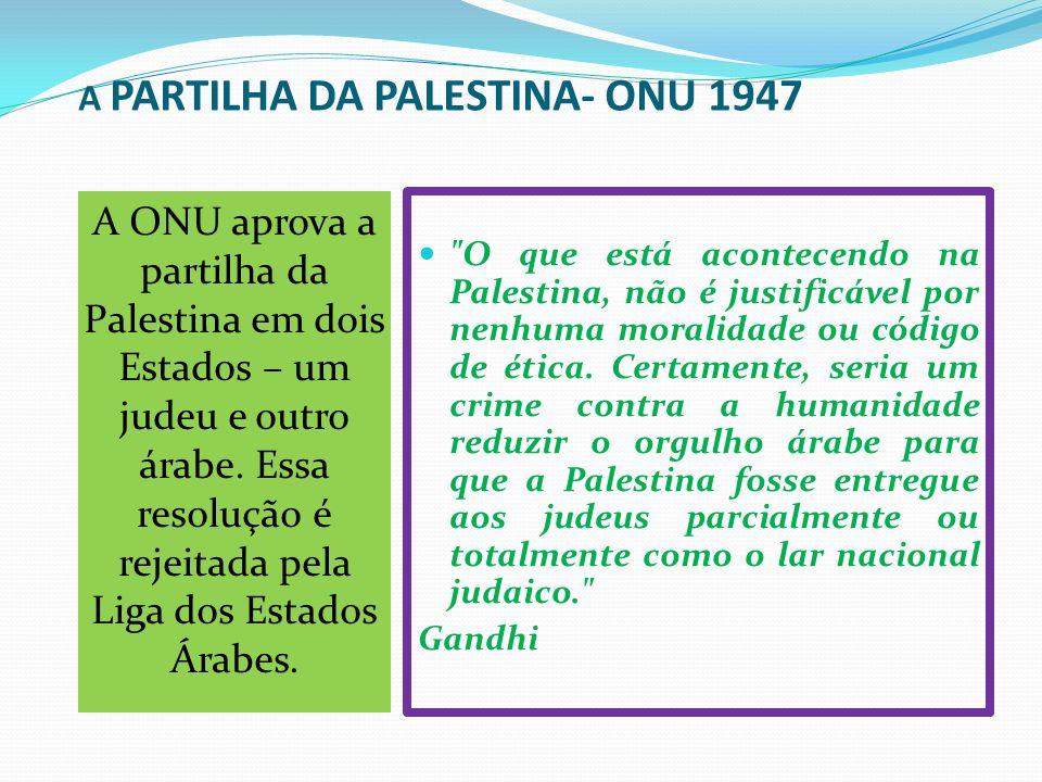 A PARTILHA DA PALESTINA- ONU 1947