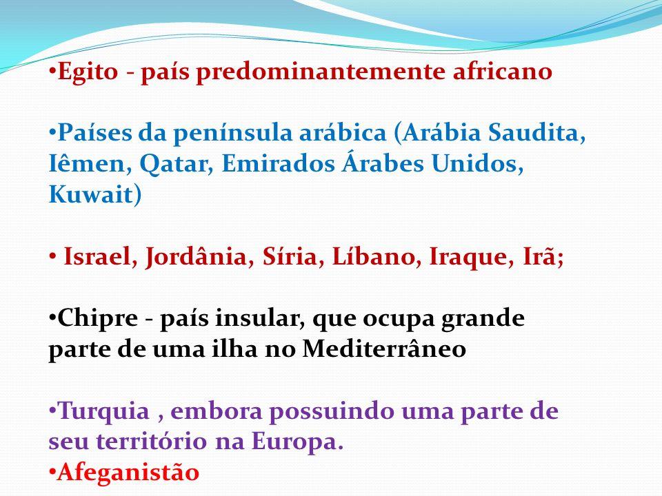 Egito - país predominantemente africano