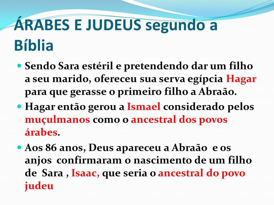 ÁRABES E JUDEUS segundo a Bíblia