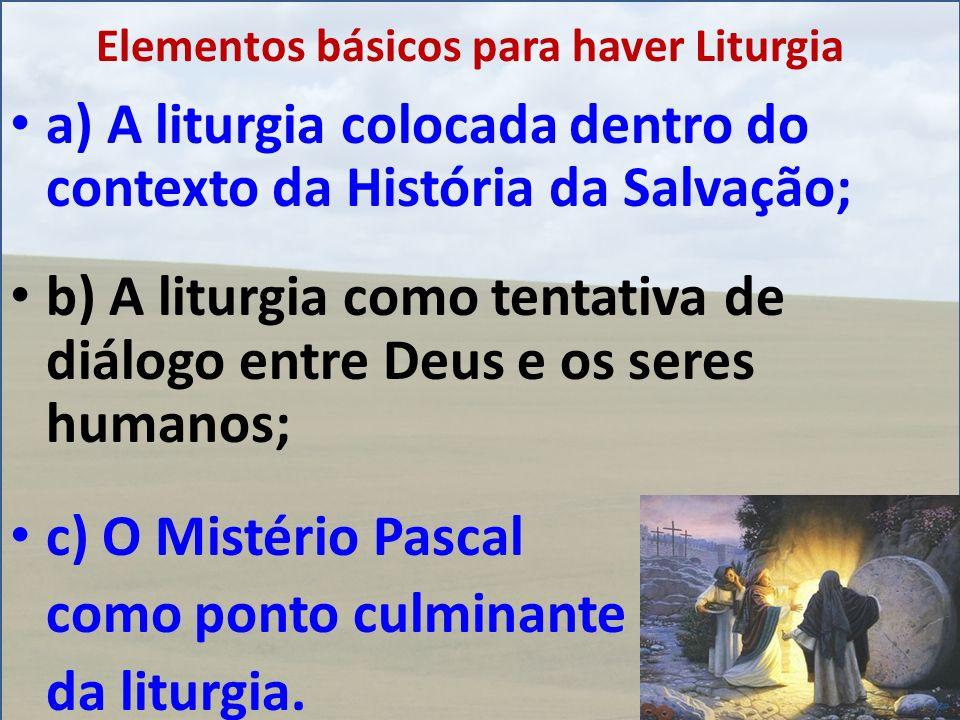 Elementos básicos para haver Liturgia