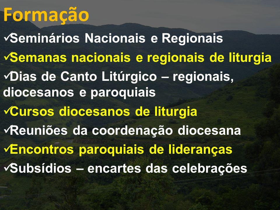 Formação Seminários Nacionais e Regionais