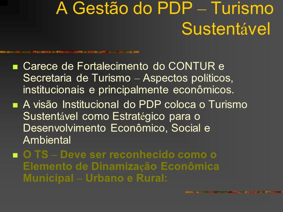 A Gestão do PDP – Turismo Sustentável