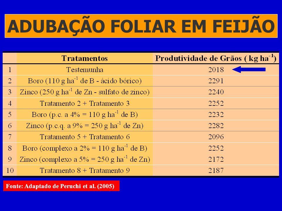 ADUBAÇÃO FOLIAR EM FEIJÃO