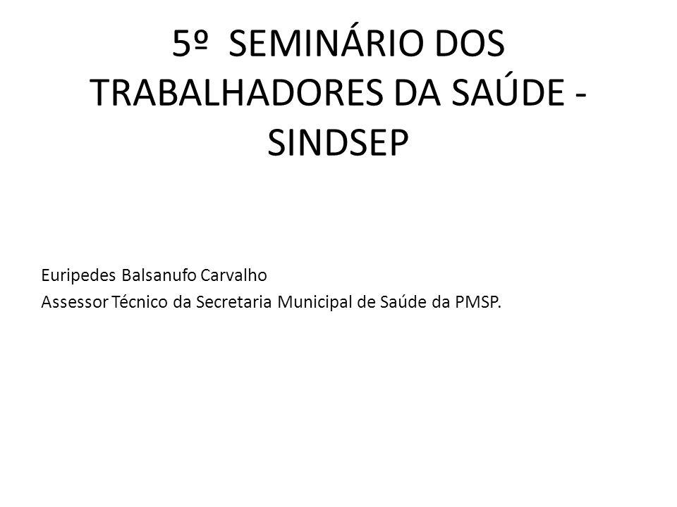 5º SEMINÁRIO DOS TRABALHADORES DA SAÚDE - SINDSEP