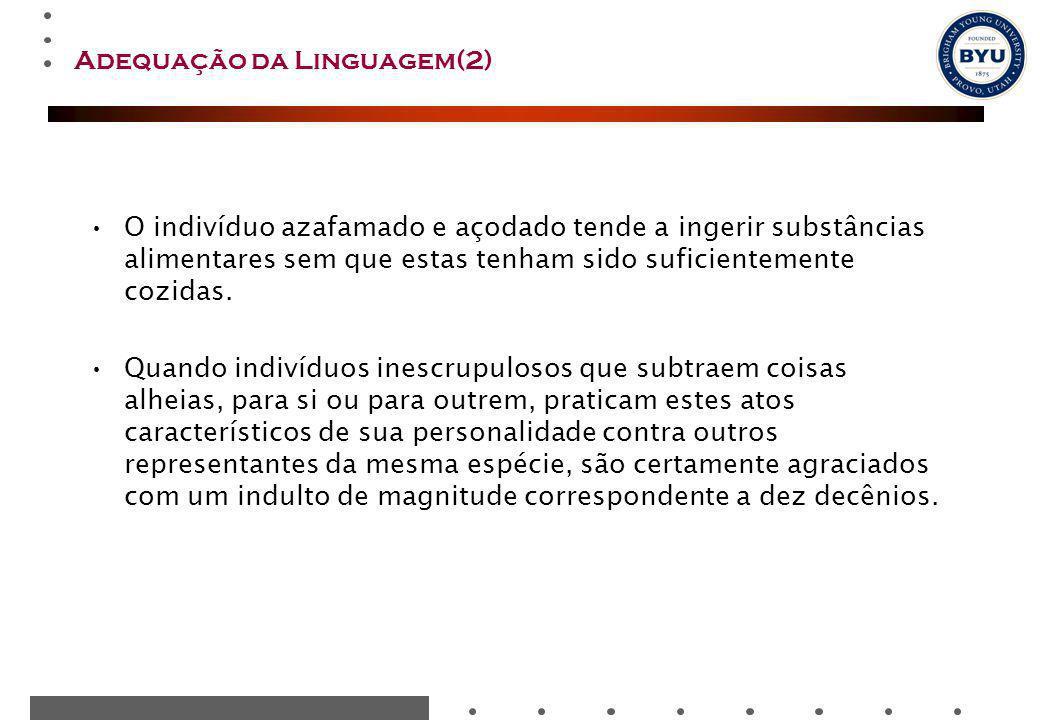 Adequação da Linguagem(2)