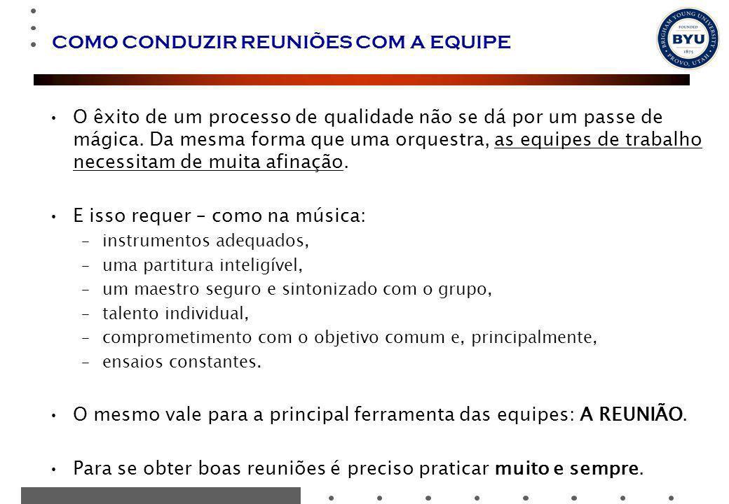 COMO CONDUZIR REUNIÕES COM A EQUIPE