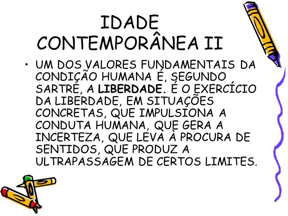 IDADE CONTEMPORÂNEA II