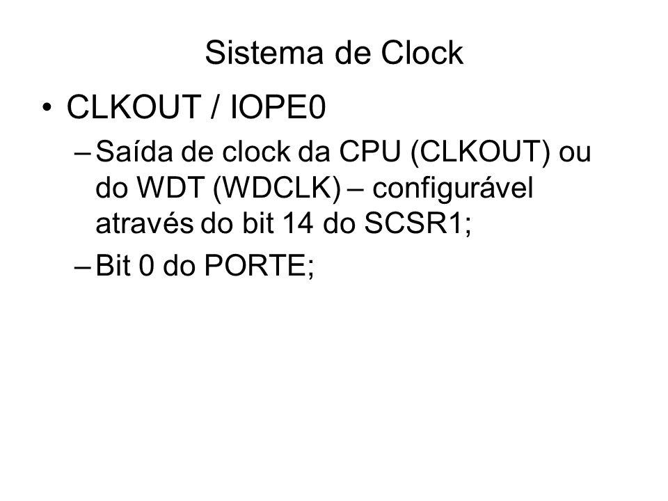 Sistema de Clock CLKOUT / IOPE0