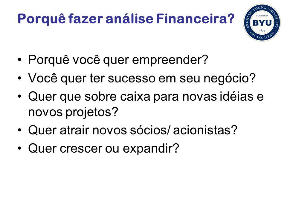 Porquê fazer análise Financeira