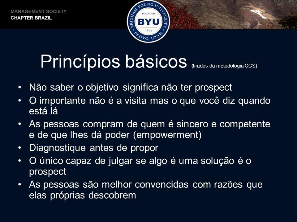 Princípios básicos (tirados da metodologia CCS)