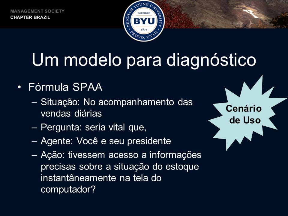 Um modelo para diagnóstico