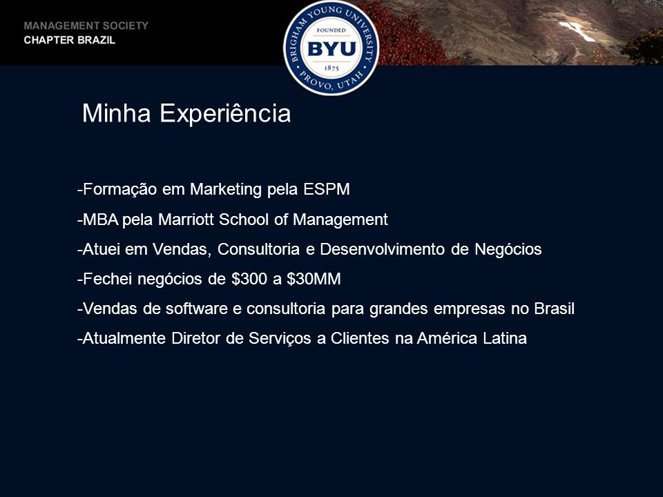 Minha Experiência Formação em Marketing pela ESPM