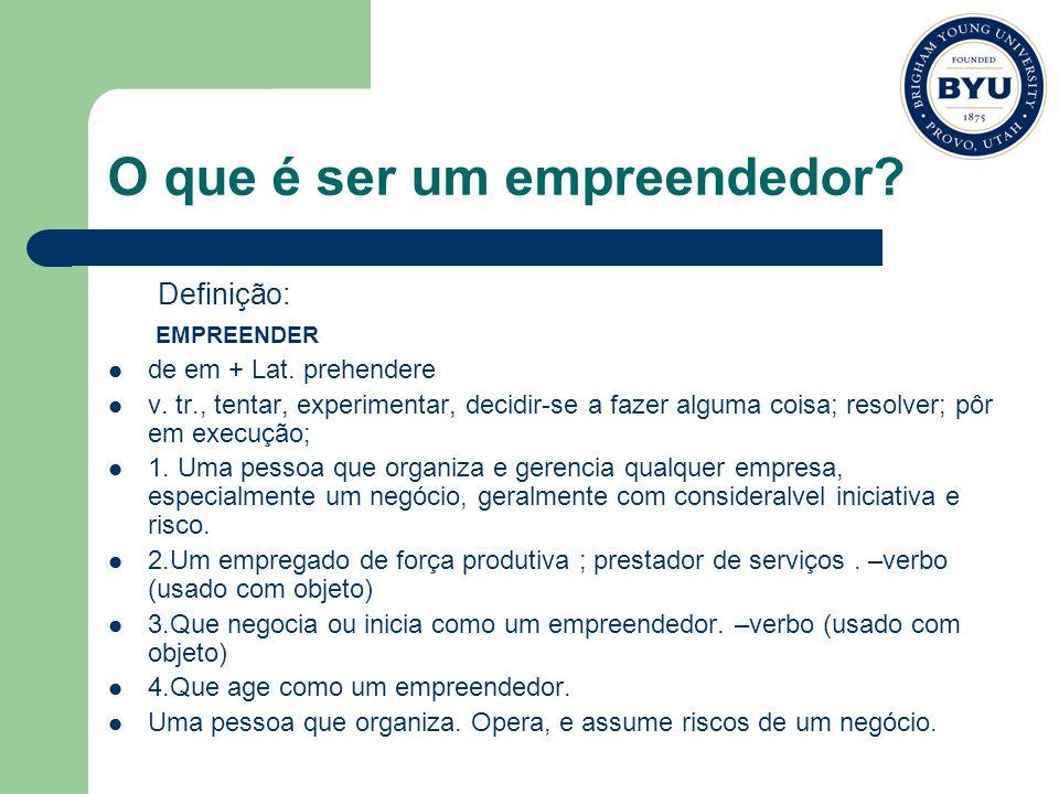 O que é ser um empreendedor