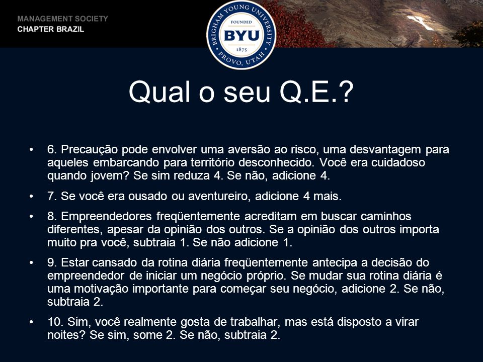 Qual o seu Q.E.