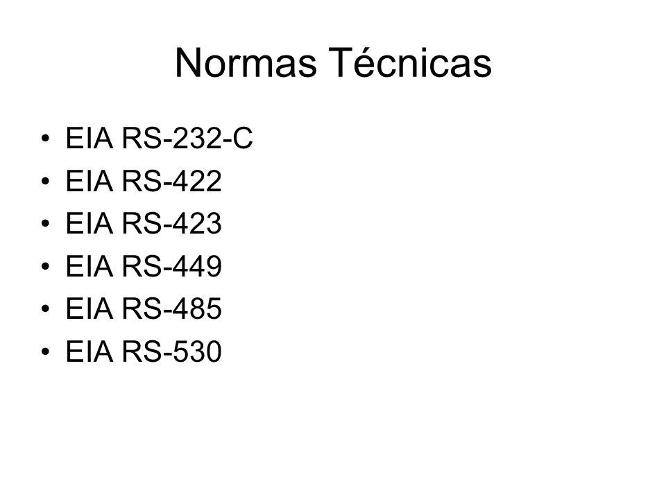 Normas Técnicas EIA RS-232-C EIA RS-422 EIA RS-423 EIA RS-449