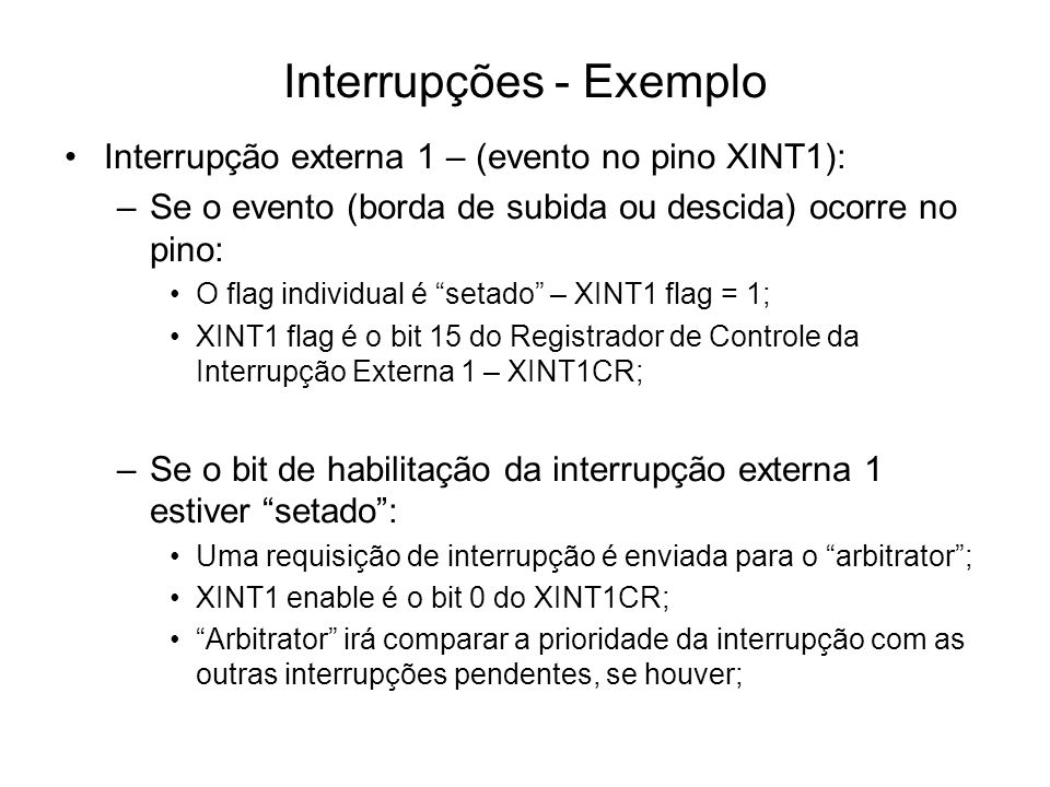 Interrupções - Exemplo