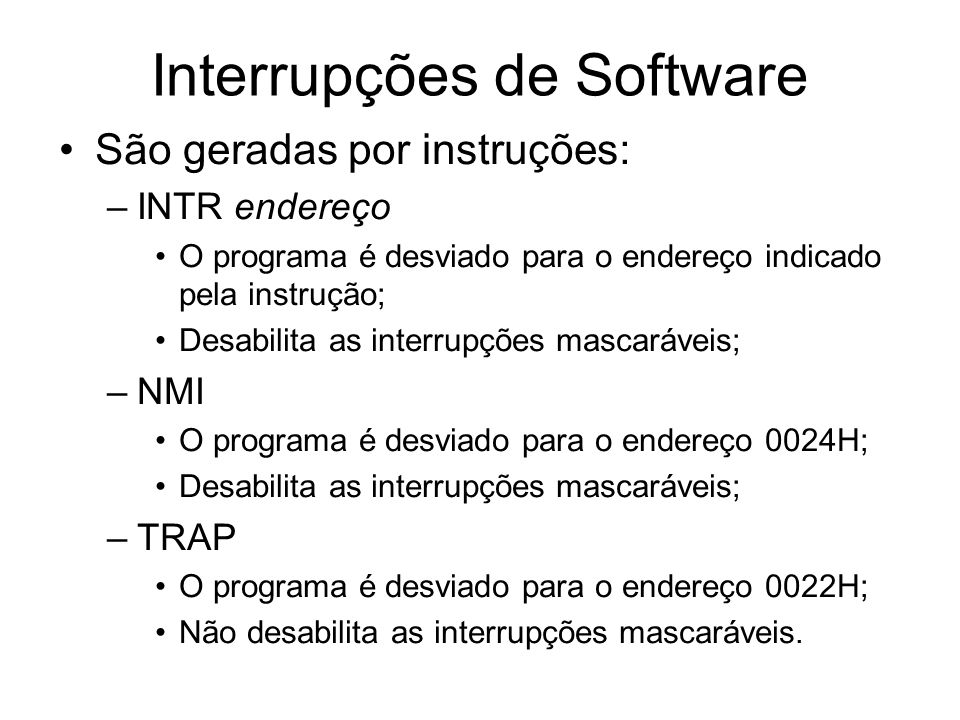 Interrupções de Software
