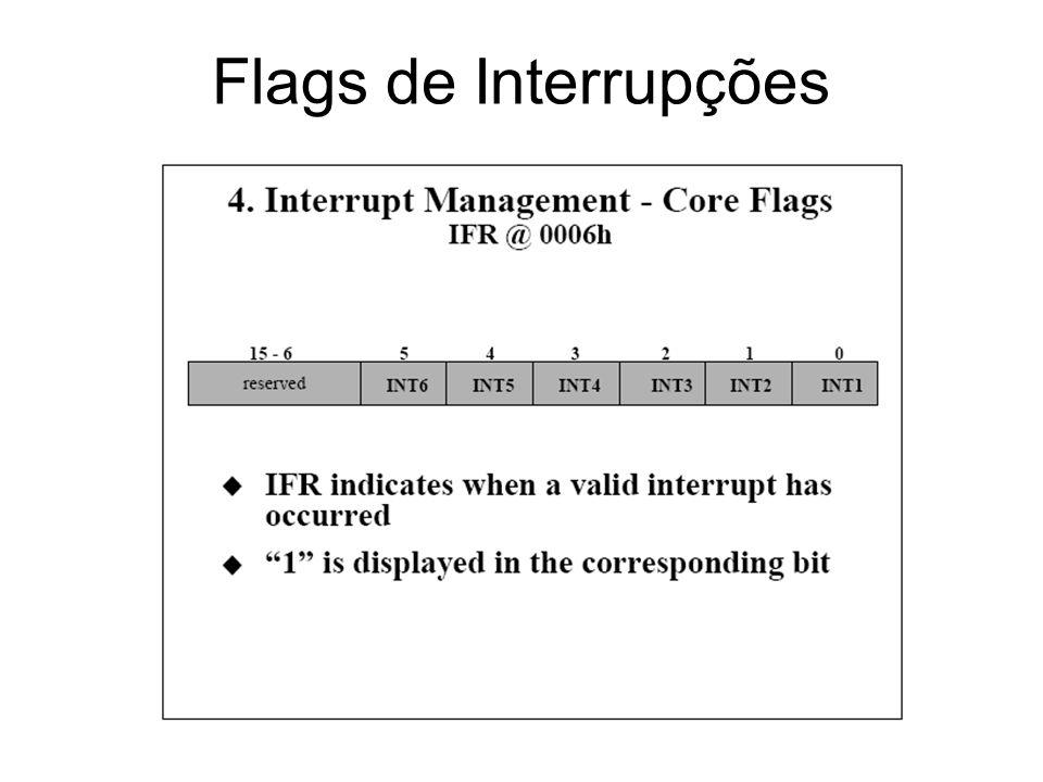 Flags de Interrupções