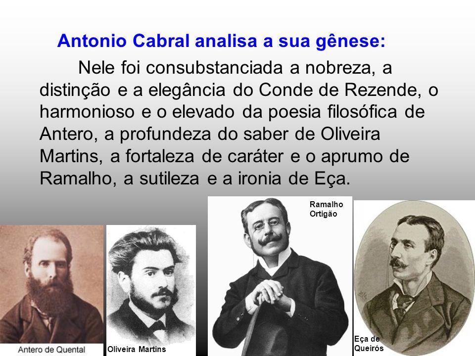 Antonio Cabral analisa a sua gênese: