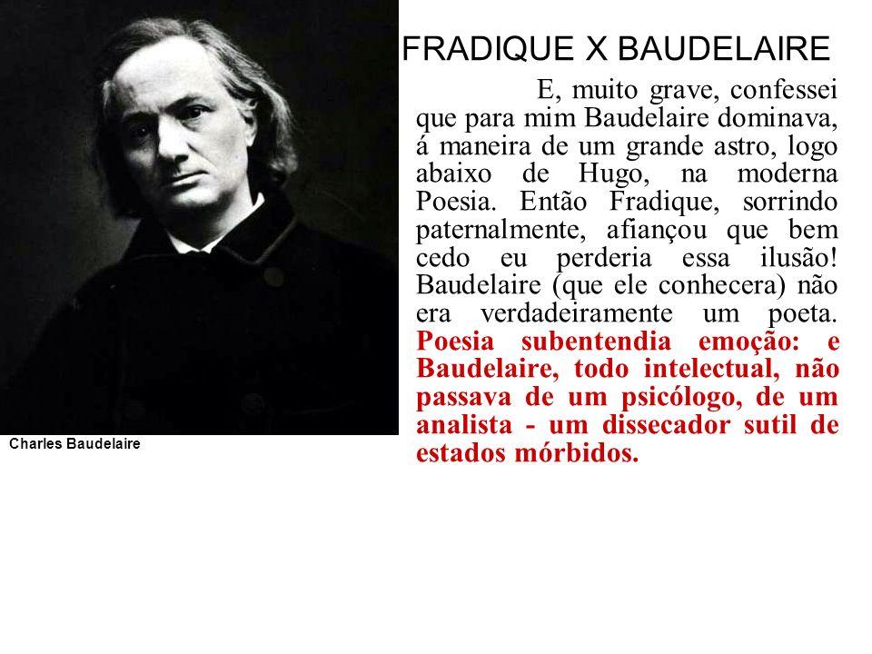 FRADIQUE X BAUDELAIRE