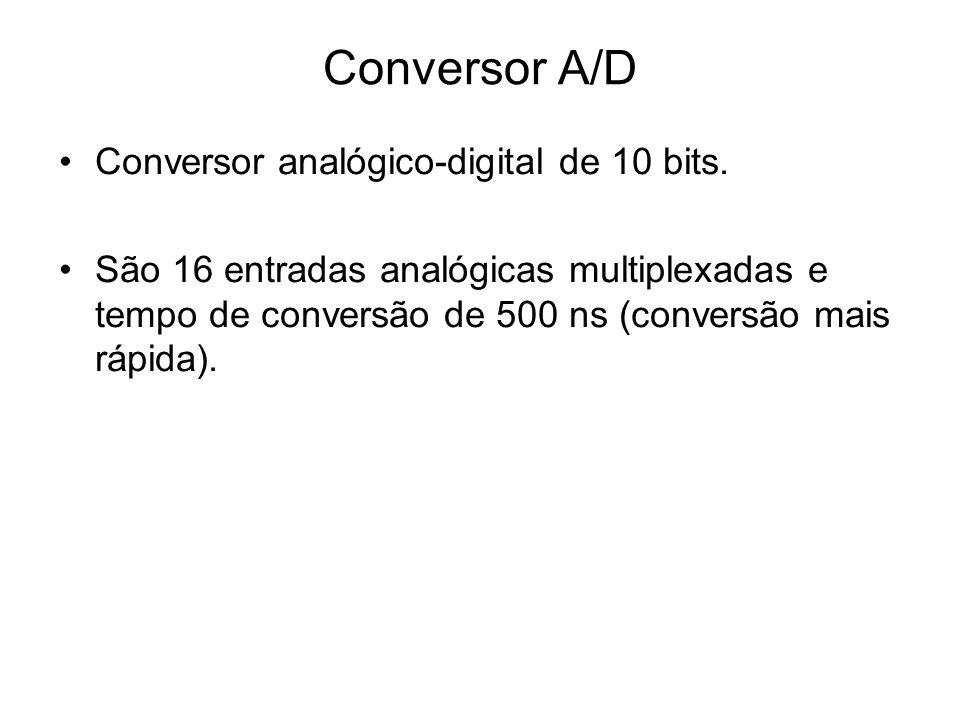 Conversor A/D Conversor analógico-digital de 10 bits.