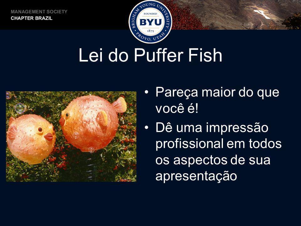 Lei do Puffer Fish Pareça maior do que você é!