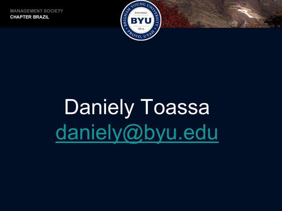 Daniely Toassa daniely@byu.edu
