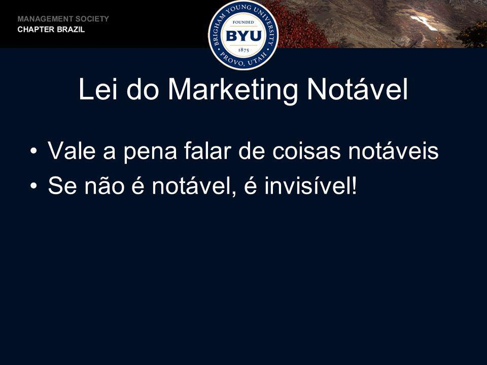 Lei do Marketing Notável