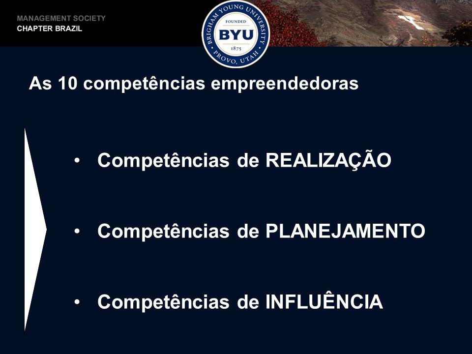 Competências de REALIZAÇÃO