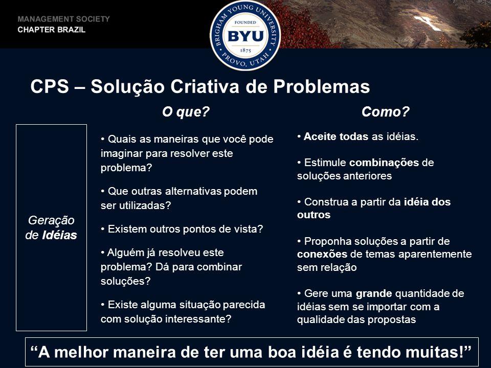 CPS – Solução Criativa de Problemas