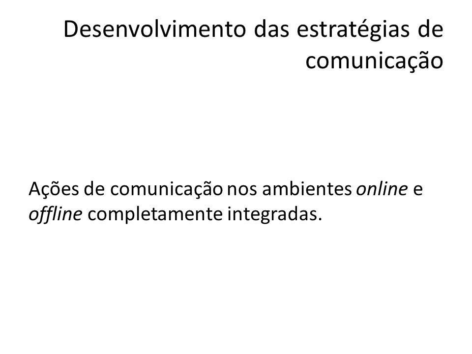 Desenvolvimento das estratégias de comunicação