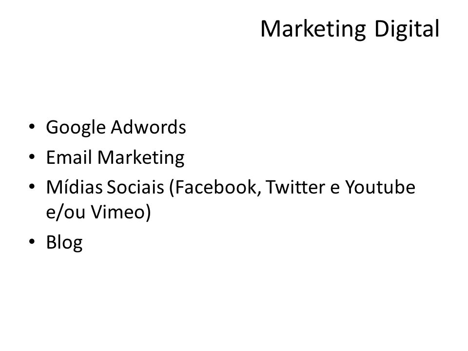 Marketing Digital Google Adwords Email Marketing