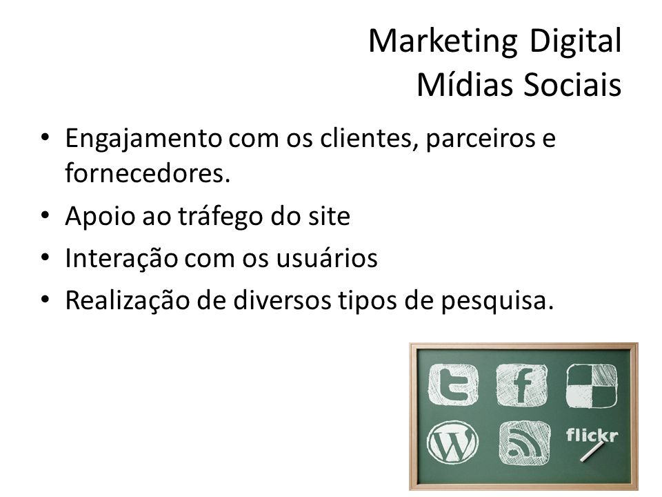 Marketing Digital Mídias Sociais
