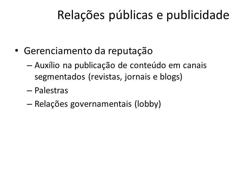 Relações públicas e publicidade