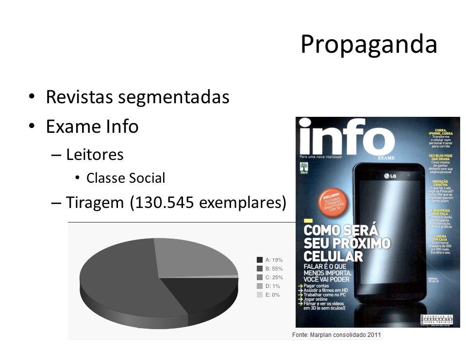 Propaganda Revistas segmentadas Exame Info Leitores