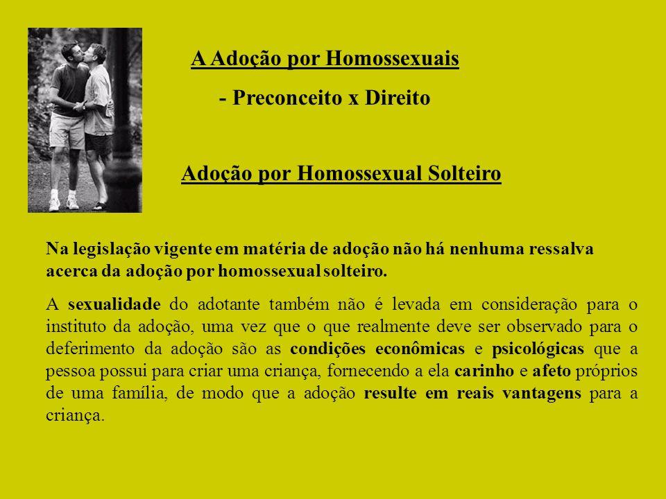 Adoção por Homossexual Solteiro