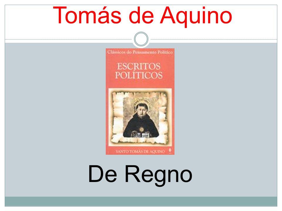 Tomás de Aquino De Regno