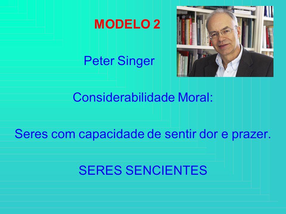 Considerabilidade Moral: Seres com capacidade de sentir dor e prazer.