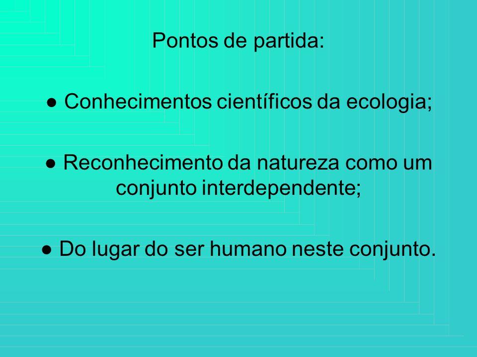 ● Conhecimentos científicos da ecologia;