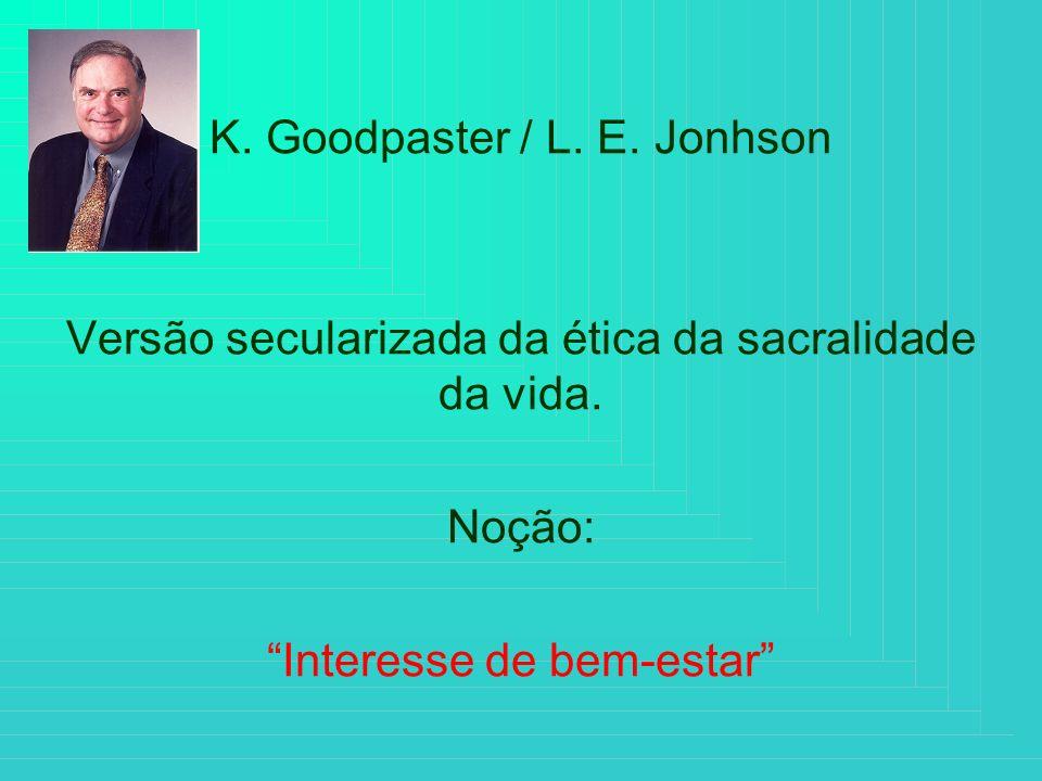 K. Goodpaster / L. E. Jonhson