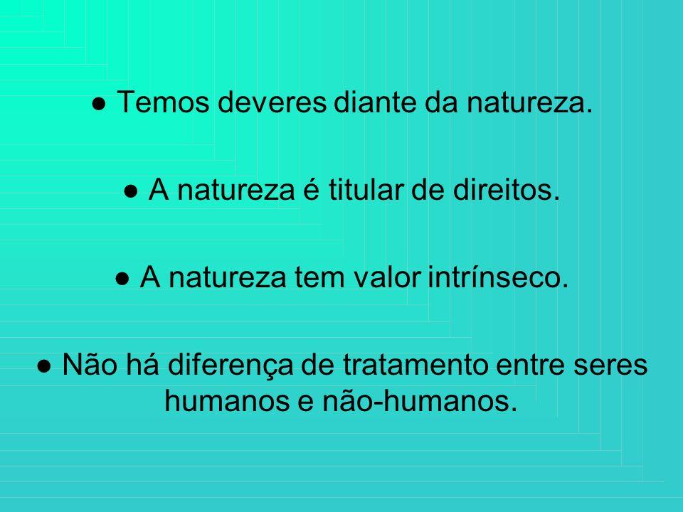 ● Temos deveres diante da natureza.