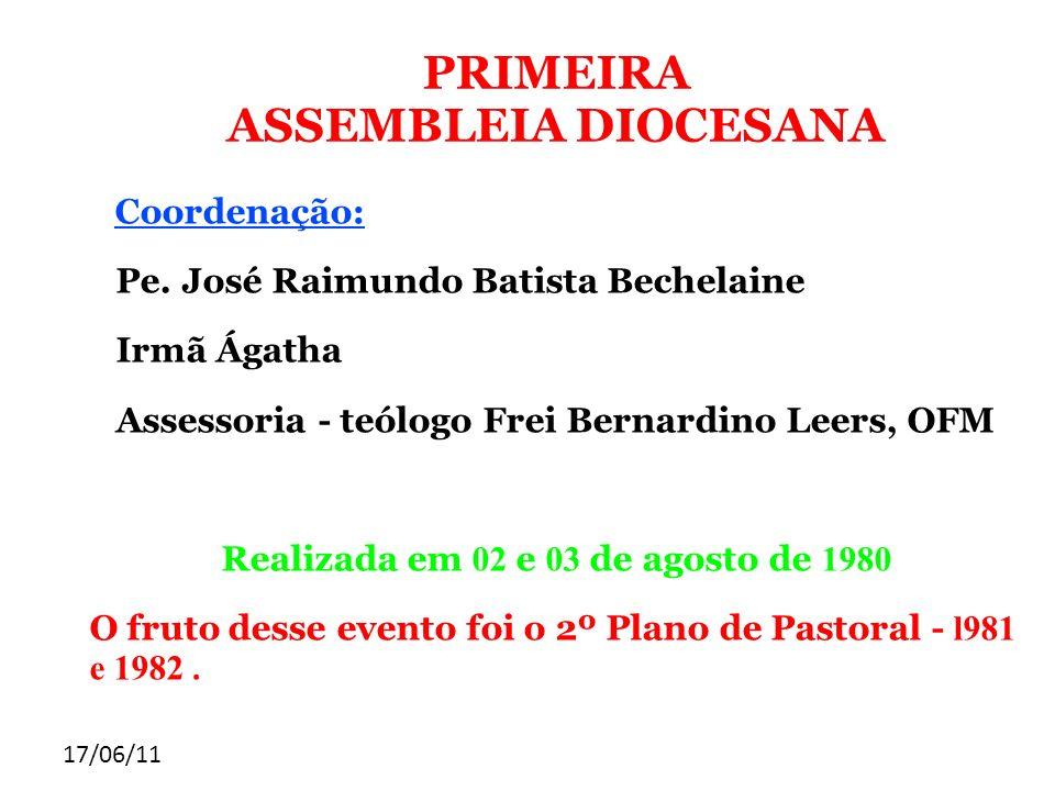 PRIMEIRA ASSEMBLEIA DIOCESANA