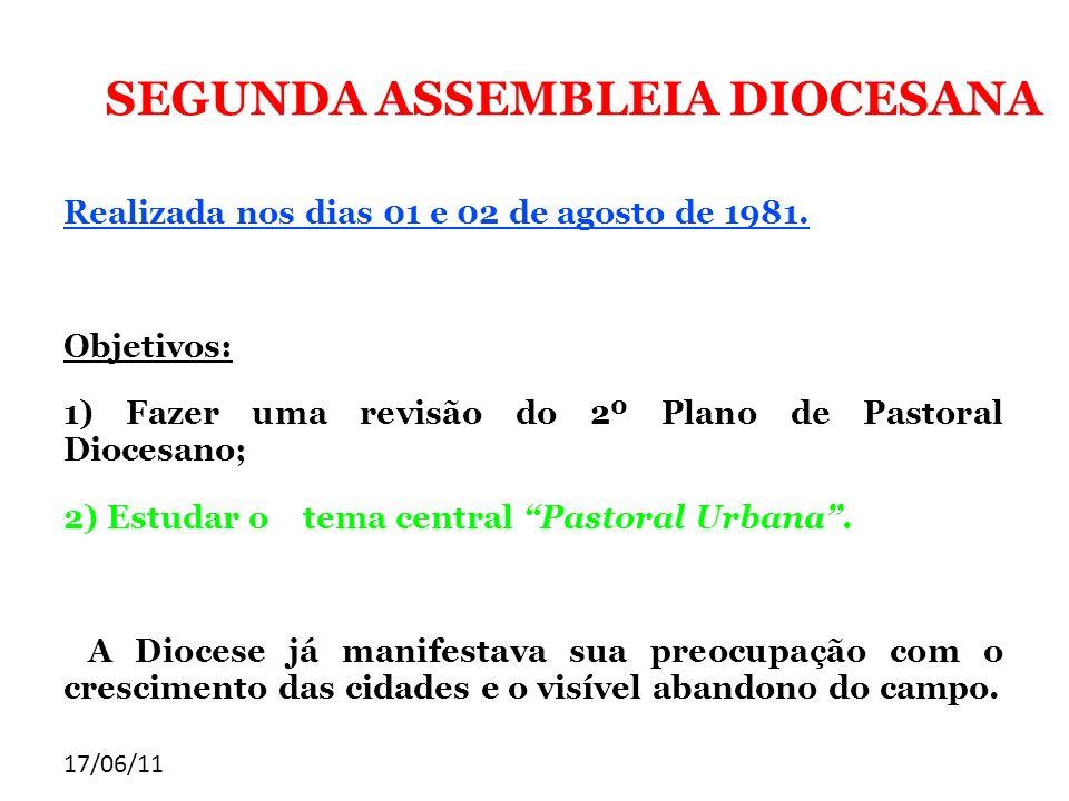 SEGUNDA ASSEMBLEIA DIOCESANA