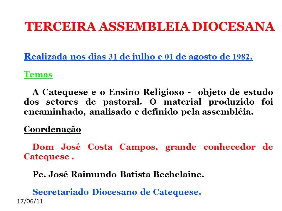 TERCEIRA ASSEMBLEIA DIOCESANA